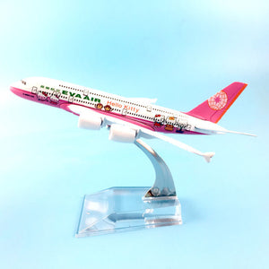 TaiWan EVA Air Hello Kitty  Airbus A380  Airplane Model