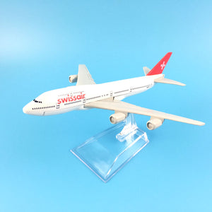 Swissair Airlines Boeing 747  Model Plane