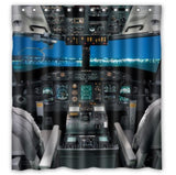 Cool Airplane Cockpit Bathroom Curtain Shower