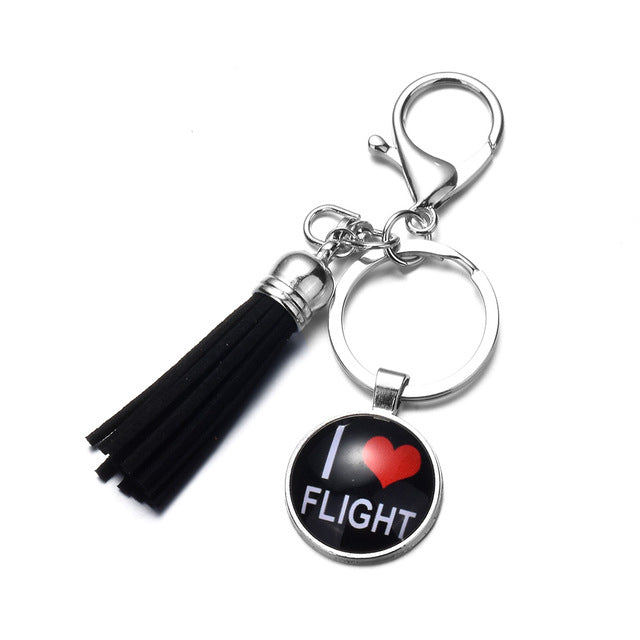 I love Flight Keychain