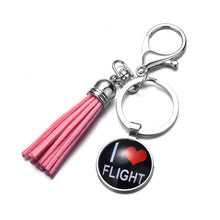Load image into Gallery viewer, I love Flight Keychain