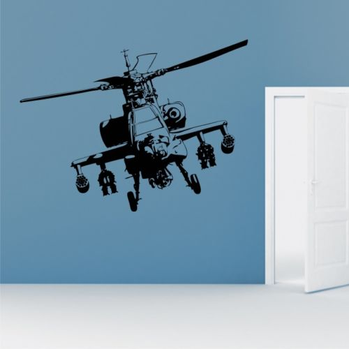 Apache Helicopter Wall Stickers