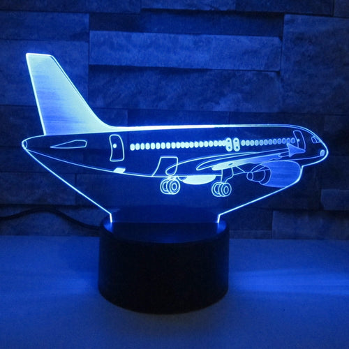 AIRBUS A320 Airplane Color changing 3D Lamps - Enjoy Aviation - AVIATION gifts -keychains-free ebook how to become a pilot