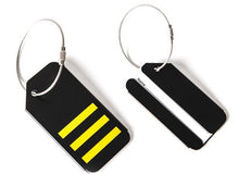 Load image into Gallery viewer, Pilot Metal Luggage Tag Alloy Bag Tag Best Small Gift for pilot air hostess aviator airman flight crew