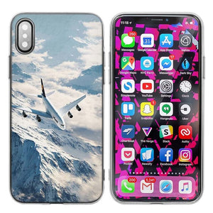 Airplane Case Cover for iPhone X 7 8 6 6s Plus 5 5S SE 5C - Enjoy Aviation - AVIATION gifts -keychains-free ebook how to become a pilot