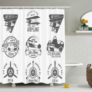 Emblems Biplane Shower Curtain
