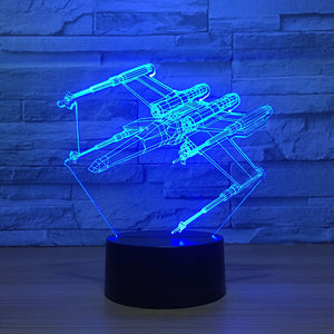 Beautiful classic Plane 3D Lamp
