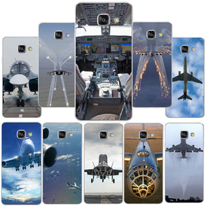 Airplane Sunrise  Hard Skin Case For Samsung Galaxy S6 S7 Edge S8 Plus A5 A7 J3 J5 J7 2016 2017