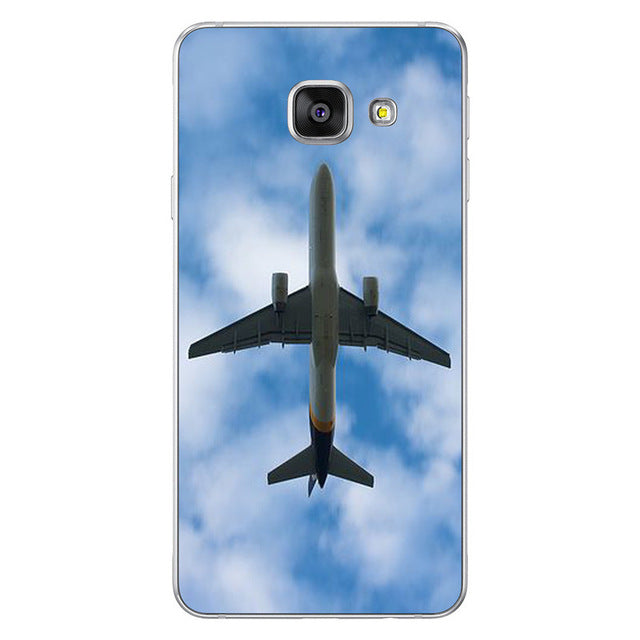 Airplane Sunrise  Hard Skin Case For Samsung Galaxy S6 S7 Edge S8 Plus A5 A7 J3 J5 J7 2016 2017 - Enjoy Aviation - AVIATION gifts -keychains-free ebook how to become a pilot