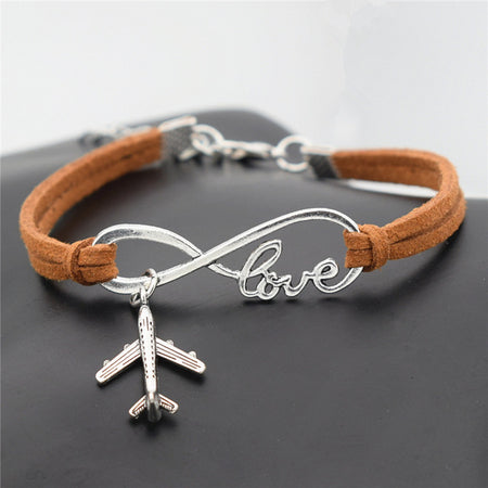 Gift of the week! Beautiful Silver Plane Leather Bracelet