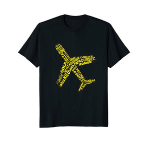 Aviation Phonetic Alphabet T Shirt
