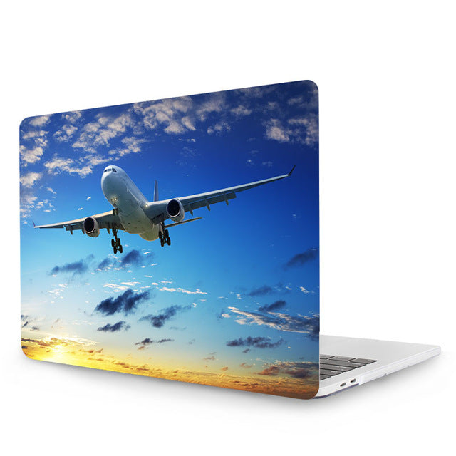"Airplane Case For New 2017 Apple Macbook Air 11"" 12'' 13"" Pro 13"" 15"" Retina 2016 Touch Bar Crystal Hard Cover Case"