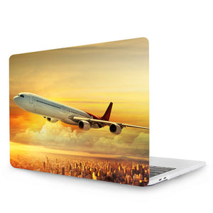 "Airplane Case For New 2017 Apple Macbook Air 11"" 12'' 13"" Pro 13"" 15"" Retina 2016 Touch Bar Crystal Hard Cover Case - Enjoy Aviation - AVIATION gifts -keychains-free ebook how to become a pilot"