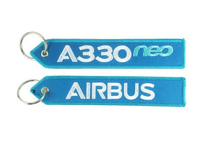 Airbus Logo Embroidery Keychains