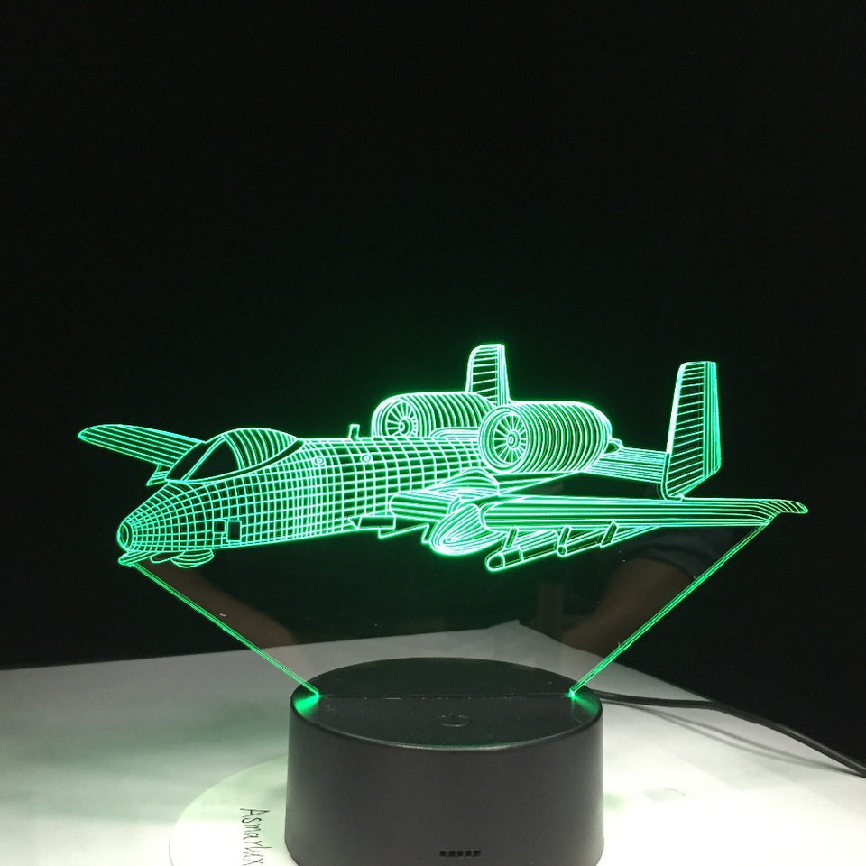 JET Airplane Color changing 3D Lamps
