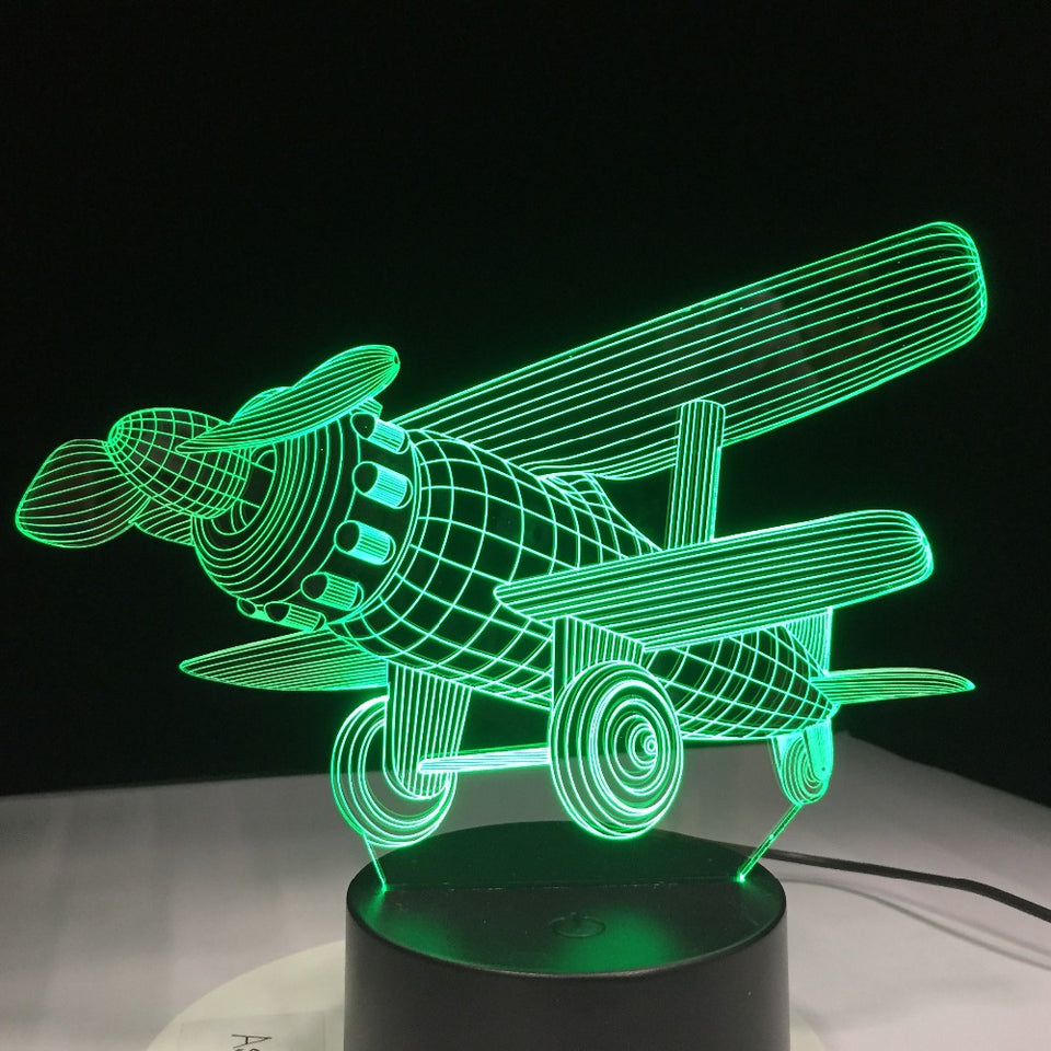 Airplane LED 3D  Lamp