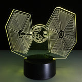 Tie Fighter Lamp LED 3D