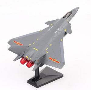 1:72 Pull back alloy military model high simulation J20
