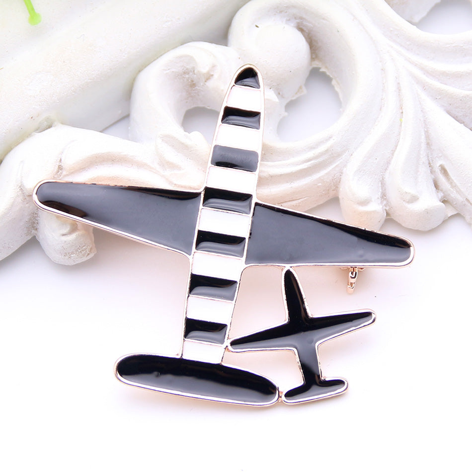 Two Airplane Brooch