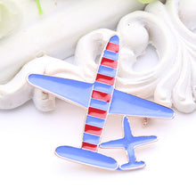 Load image into Gallery viewer, Two Airplane Brooch