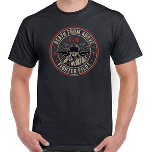 Death From Above Mens F-16 Pilot T-Shirt