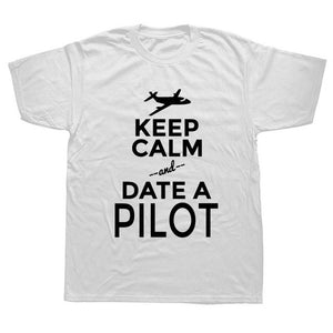 Keep Calm And Date A Pilot Funny T Shirt