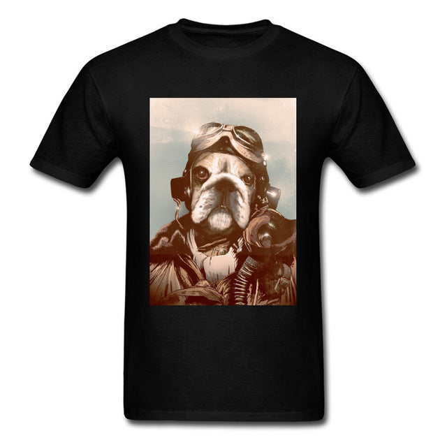Fighter Dog Pilot T-shirt