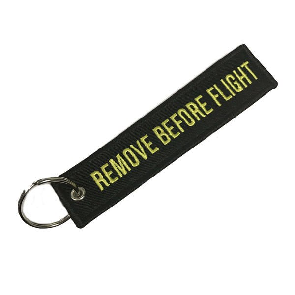 REMOVE BEFORE FLIGHT keychains