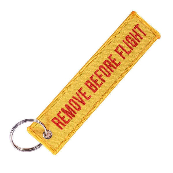 Discount of the Day !Remove Before Flight KeyChain Tag