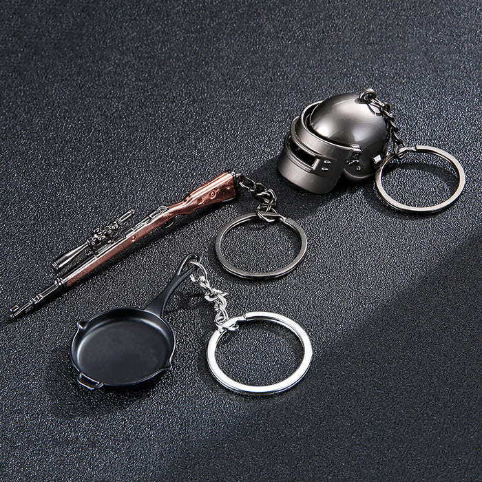 Battle Grounds Keychain Helmet Pan