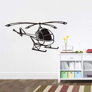 Small Helicopter Wall Sticker