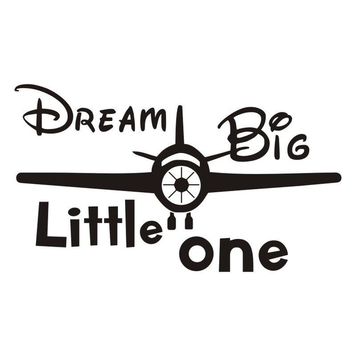 Cartoon Airplane  Wall Stickers Dream Big Little One