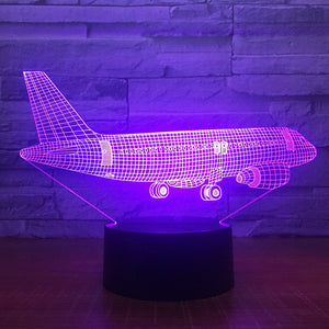 Big JET airplane 3D LED Lamp