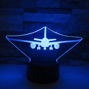 AJET Airplane Color changing 3D Lamps