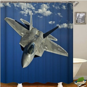 7 Airplanes shower curtain