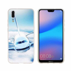 Huawei Airplane Phone Case For Huawei P8 P9 Lite 2017 P10 P20 P30 Lite Plus Pro P Smart