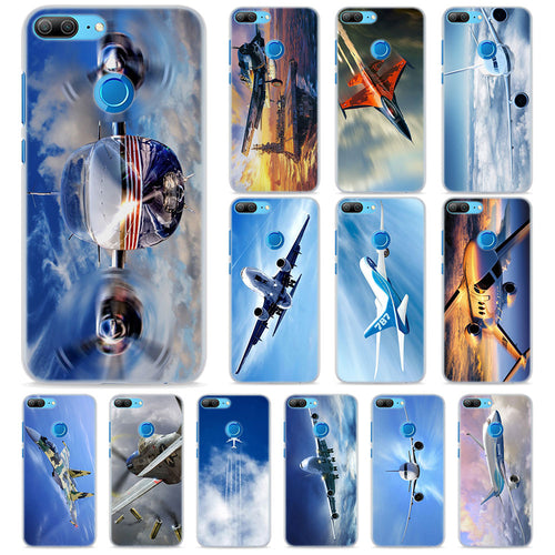 Samsung Airplane Phone Cases for Samsung Honor 8 9 10 Lite Hard PC Case Cover for Honor 4C 6C Pro 6x 7x 8x 7s Case