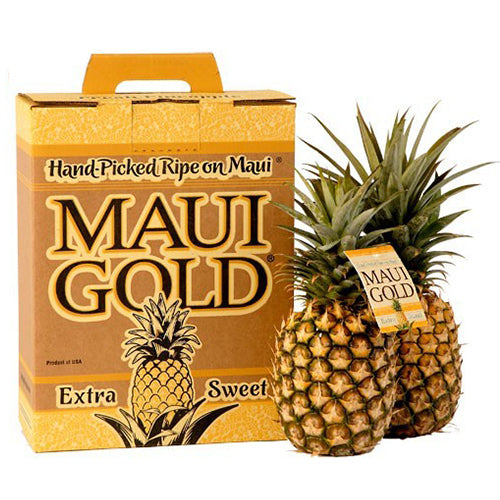 Maui Gold pineapples are a popular item in Maui gift baskets