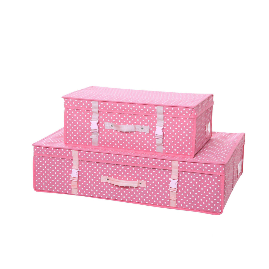 Polka Dot Wedding Dress Travel Storage Boxes