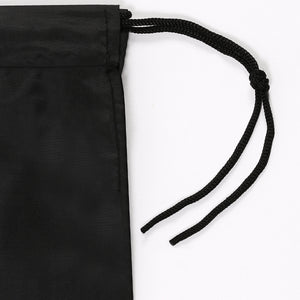 Black Nylon Drop & Go Drawstring Bags