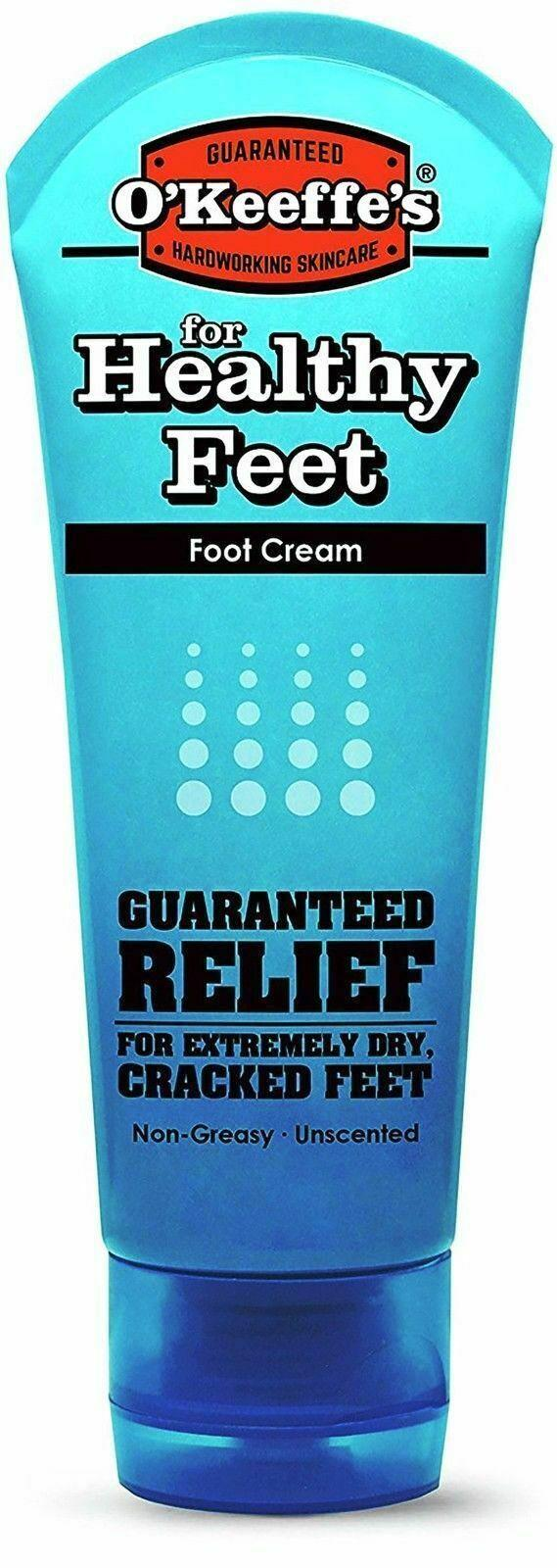 O Keeffes Healthy Foot Feet Cream 85g Tube For Extremley Cracked Dry Split Skin
