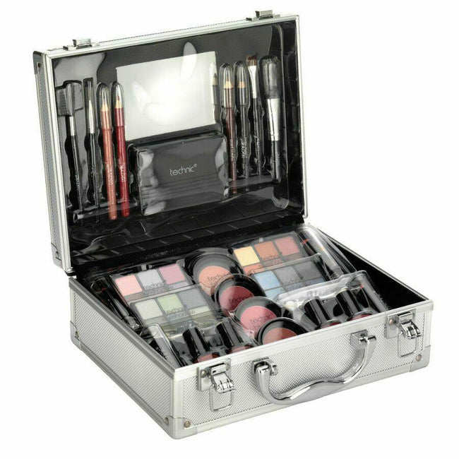 Makeup Beauty Box Gift Set With Cosmetics Face, Eye, Nails and Lip Makeup