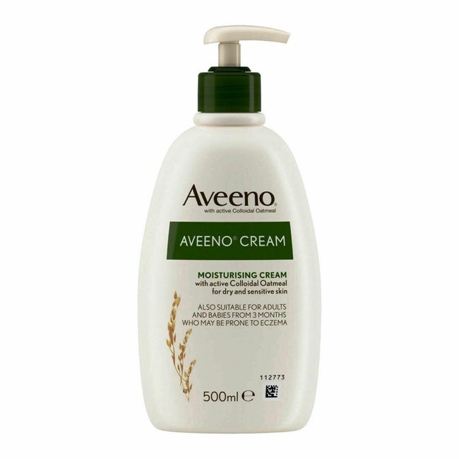 Aveeno Daily Moisturising Cream Large Bottle for Adults and Babies with Dry Skin