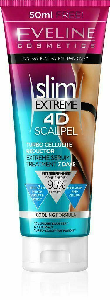 Eveline Slim Extreme 4D Scalpel Turbo Cellullite Reductor Cream 7 Day Treatment.