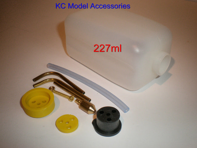 RC Fuel Tank 227ml 8oz ideal for Glow/Nitro with Fitting Kit inc Tubing