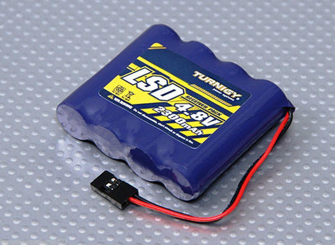 R/C 4.8V 2300mAh Ni-MH Flat RECHARGEABLE Receiver Battery Pack Low Discharge