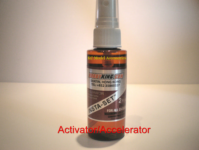 Super Glue Activator/Accelerator Foam & Plastic Safe Large 60ml Pump Spray.