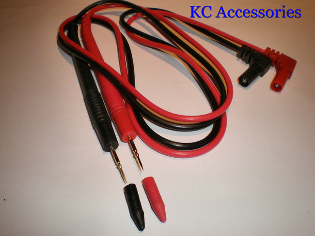 Multimeter Test Leads Probe Red & Black Replacement Digital Testing Pair Cable