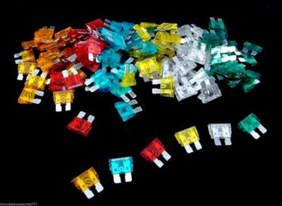 120pc Assorted Car Auto Fuse Set 5 10 15 20 25 30 Amp Rectangular Blade End