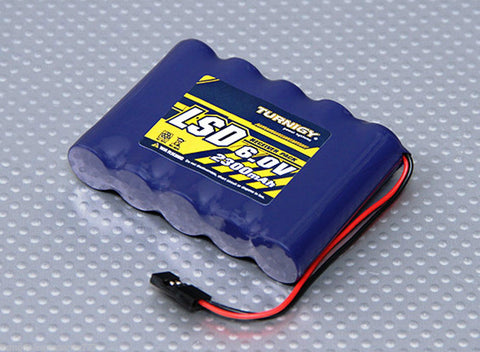 R/C 6.0 V 2300mAh Ni-MH Flat RECHARGEABLE Receiver Battery Pack Low  Discharge